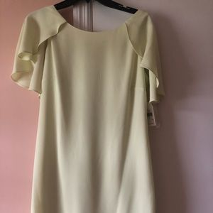 Gorgeous yellow Jessica Simpson Cape shift dress